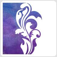 Split Flourish Stencil