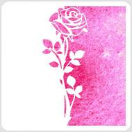 Split Rose Stencil