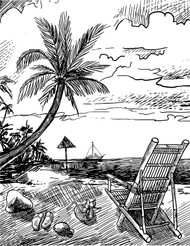 Sketched Beach