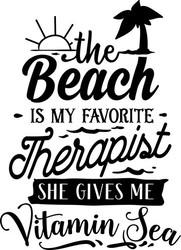 Beach is my Therapist