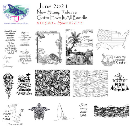 S888 Flag Across America S907 Sketched Beach S908 Shell Waves S926 Watersport Doodles S927 Framed Seascape SD990 Flowy Jellyfish SD1073 Zen Sea Turtle SD1081 Be a Pelican Set of 2 SD1094 Beach is my Therapist SD1096 Fish or Mermaid SD1097 Stormy Sea Border SD1105 Sundae SD1109 Sailboat Line Sketch SDX152 Sail Away with Me SS137 Ocean Frame Sentiments