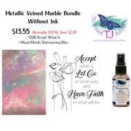 Metallic Veined Marble Bundle without Ink
