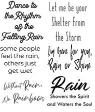 Rain Sentiments, Set of 6