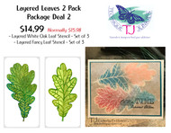 Layered Leaves 2 Pack - Package Deal 2 (6 Stencils)