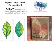 Layered Leaves 2 Pack - Package Deal 1 (6 Stencils)