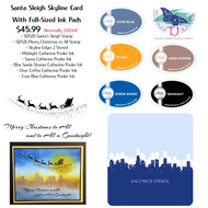 Santa's Sleigh Skyline Card Kit with Ink