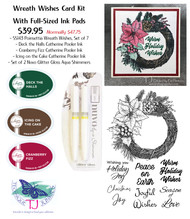 Wreath Wishes Card Kit