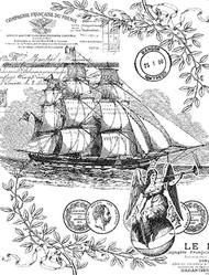 P014 Vintage Ship Collage - Palettini