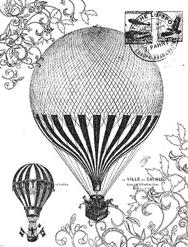 P016 Vintage Balloon Collage - Palettini