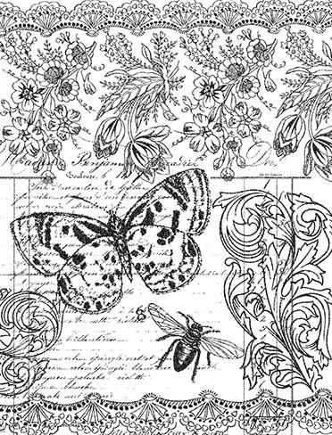 P018 Vintage Botanicals Collage - Palettini