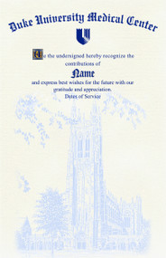 Duke Retirement Certificates