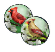 "Cardinals SLATE 4"" Round Coasters Set of 4"