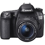 Canon EOS 70D 20.2 Megapixel Digital SLR Camera With Lens, Black
