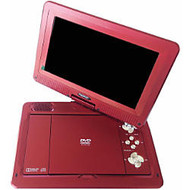 Azend MDP1008 Portable DVD Player - 10.1 inch; Display - Red