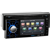 BOSS AUDIO BV7464B Single-DIN 4.6 inch Touchscreen DVD Player, Receiver, Bluetooth, Detachable Front Panel, Wireless Remote
