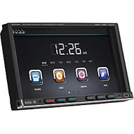 Boss Audio BV9755 Double-DIN 7 inch Motorized Touchscreen DVD Player Receiver, Wireless Remote