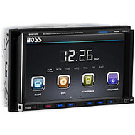 Boss Audio BV9757B Double-DIN 7 inch Motorized Touchscreen DVD Player Receiver, Bluetooth, Wireless Remote