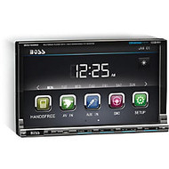 Boss Audio BV9759BD Double-DIN 7 inch Motorized Touchscreen DVD Player Receiver, Bluetooth, Detachable Front Panel, Wireless Remote