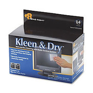Advantus Kleen And Dry Screen Cleaner Wipes, Box Of 14
