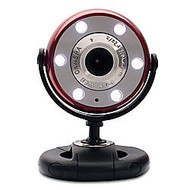 Gear Head Quick 1.3-Megapixel Night Vision WebCam, Red