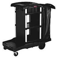 Rubbermaid; Executive Cleaning Cart, 20 1/2 inch; x 22 1/2 inch; x 38 1/2 inch;, Black