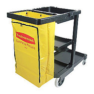 Rubbermaid; Janitor Cart With Zipper Vinyl Bag
