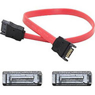 AddOn 30cm (1.0ft) SATA Male to Male Red Serial Cable
