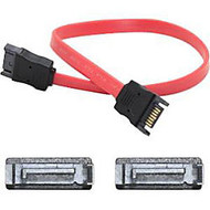 AddOn 46cm (1.5ft) SATA Male to Male Red Serial Cable