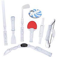 CTA Digital WI-8SR 8 in 1 Pack for Wii Sports Resort Gaming Controller Accessory Kit