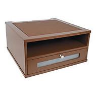 Victor; Monitor Riser, 6 1/2 inch;H x 13 inch;W x 13 inch;D, Mocha Brown