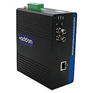 AddOn 1 10/100/1000Base-TX(RJ-45) to 1 1000Base-SX(ST) MMF 850nm 550m Industrial Media Converter