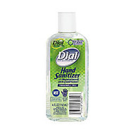 Dial Antibacterial Hand Sanitizer With Moisturizer, Fragrance-Free, 4 Oz, Case Of 24