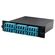 AddOn Cassette for 3 Bay Patch Panel, 2 MPO In, 6 LC Quad Out, Multimode Duplex OM3