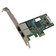 AddOn 10/100/1000Mbs Dual Open RJ-45 Port 100m PCIe x4 Network Interface Card
