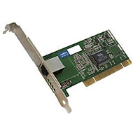 AddOn 10/100/1000Mbs Single Open RJ-45 Port 100m PCI Network Interface Card