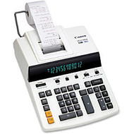 Canon CP1213DIII Desktop Printing Calculator - Dual Color Print - Dot Matrix - 4.8 lps - Ergonomic Design, Independent Memory, Item Count - 0.67 inch; - 12 Digits - Fluorescent - AC Supply Powered - 6 inch; x 11 inch; x 17 inch; - White - 1 Each