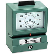 Acroprint 125 Manual Print Time Recorder, Green