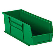 B O X Packaging Plastic Stack & Hang Bin Boxes, 11 inch; x 10 7/8 inch; x 5 inch;, Green, Case Of 6