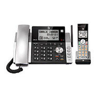 AT&T DECT 6.0 Expandable Corded/Cordless Phone System With Digital Answering System, CL84115