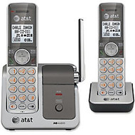 AT&T CL81201 DECT 6.0 Expandable Cordless Phone with Caller ID/Call Waiting, Silver, 2 Handsets