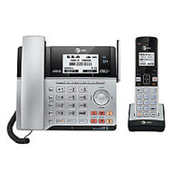 AT&T TL86103 DECT 6.0 2-Line Corded/Cordless Phone System With Connect-To-Cell