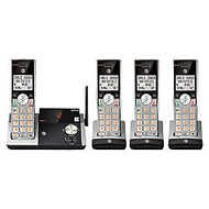 AT&T DECT 6.0 Cordless Phone With Digital Answering System, CL82415, 4 Handsets