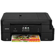 Brother Work Smart Wireless Color Inkjet All-In-One Printer, Scanner, Copier, Fax, With INKvestment Cartridges, MFC-J985DW