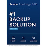 Acronis; True Image™ 2016, For 1 PC or Mac, 1-Year Subscription, Traditional Disc
