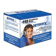 HamiltonBuhl™ HygenX Disposable Ear-Cushion Covers For 2.5 inch; Over-Ear Headphones & Headsets, White