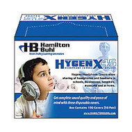 HamiltonBuhl™ HygenX Disposable Ear-Cushion Covers For 3.75 inch; Over-Ear Headphones & Headsets, White