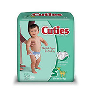 Cuties; Baby Diapers, Size 5, 27+ Lb, Box Of 27