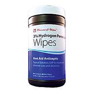 3% Hydgrogen Peroxide Wipes, 5 1/2 inch; x 7 inch;