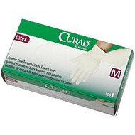 Curad; Powder-Free Latex Exam Gloves, Extra-Small, Beige, 100 Gloves Per Box, Case Of 10 Boxes
