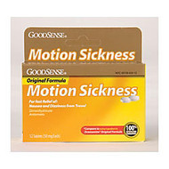 GoodSense; Original Formula Motion Sickness, Box Of 12